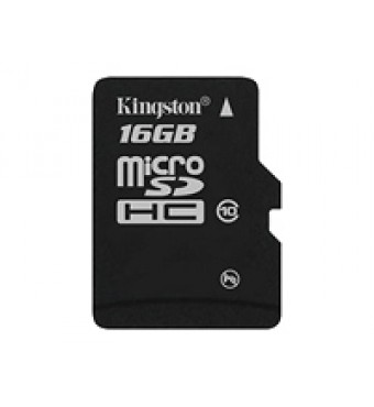 KINGSTON 16GB micro SDHC Card Class 10 Single Pack