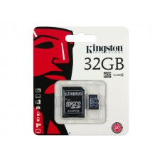 KINGSTON 32GB microSDHC Card Class 10 incl adapter