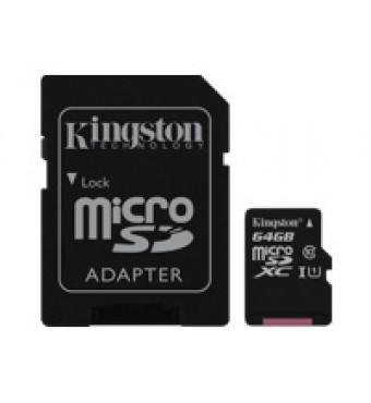 KINGSTON 64GB microSDXC Class10 + SD Adapter