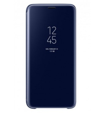 Dėklas originalus Clear View Standing Cover Samsung S9+ mėlynas