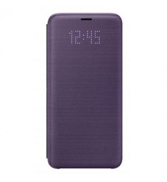 Dėklas originalus LED View Cover Samsung S9+ violetinis